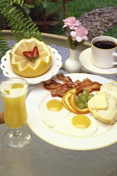 Make your friend a hearty breakfast to inspire her to wake up.