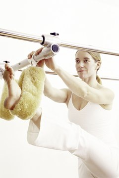 You get to play with the toys in a private Pilates session.