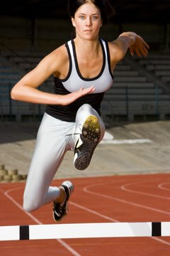 Technique and strategy are as important as speed and endurance in the 300-meter hurdles.