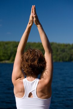 Stretching your upper arms promotes flexibility.