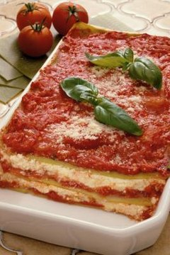 Lasagna can be baked from a frozen state without compromising its taste.