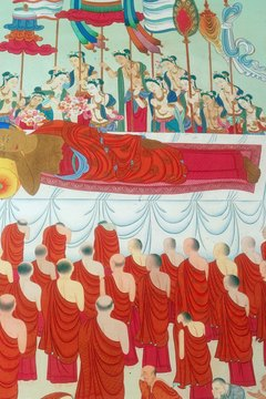 Mahayana Buddhists believe that unless an individual finds nirvana during their life, they will be reborn after death.