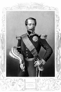 Napoleon III, president of France during the American Civil War.