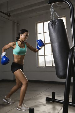 Working out with a punching bag can hurt your elbows.