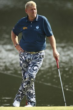 John Daly has used clubs with titanium shafts.
