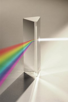 A prism is an easy way to create indoor rainbows.