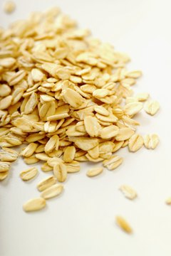 Oats contain a fiber-rich bran covering or husk.