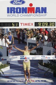 The fastest women typically finish Ironman triathlons in about nine hours.