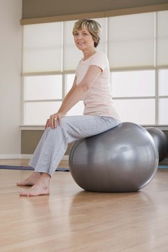 Balance balls keep your core muscles engaged while performing yoga or Pilates exercises.