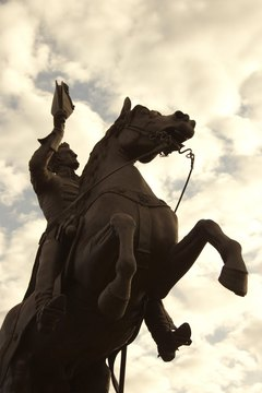 Andrew Jackson, depicted in a statue in New Orleans, was the first president of the era that bears his name.