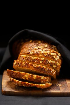 Whole-grain bread is full of insoluble fiber.