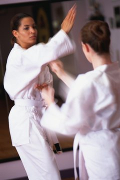 Women gain self-confidence and form friendships in self-defense classes.