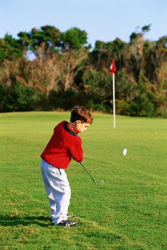 You're never to young to start practicing your short game.