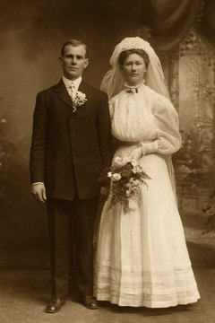 Photography came to prominence during this period, giving us some photographs of Victorian weddings.
