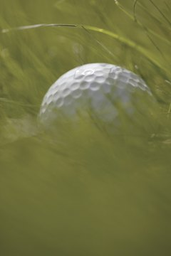 A purple dot can help you identify a golf ball hit into deep rough.