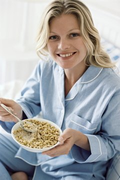 Healthy carbohydrate and protein sources can boost serotonin levels, improving sleep.
