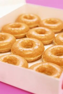 Donut glazes are made from powdered sugar and water or milk.