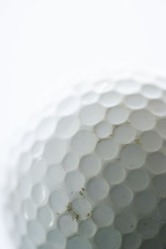 Today's golf balls have distinctive dimple patterns.