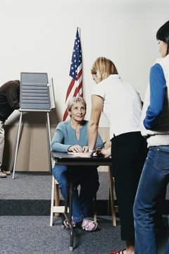 Officials might ask for identification before directing you to an election ballot.
