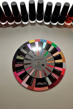 Makeup artists use color wheels.