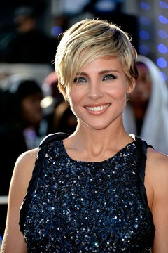 "Actress Elsa Pataky rocks a pixie cut at the ""Fast and Furious 6"" premiere in London in 2013."