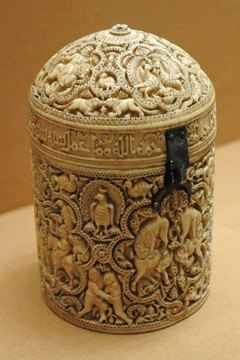 Sculpted Ivory Box