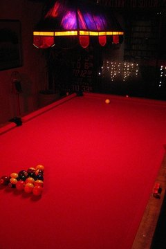 A pool table, its foundation