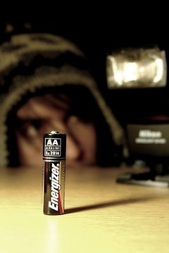 An alkaline battery