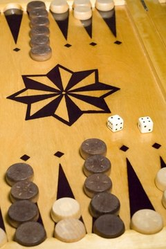 Acey-Duecy, a backgammon board, A backgammon game, progress