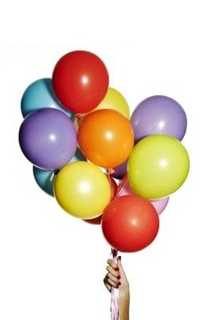 balloons, communication activities, groups