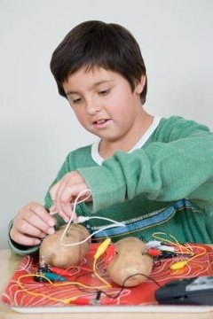 You can make a battery using two electrodes and a potato.