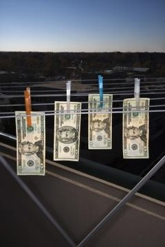 This image illustrates money laundering, which is figurative language.