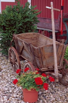 Old wagons, decorations, functional uses