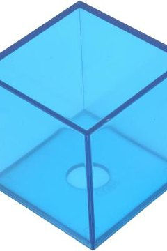 Cubic feet determines the number of 1-foot cubes that fit inside an object.