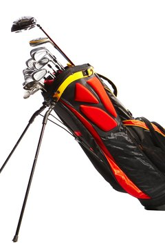 Place your longer clubs toward the back, and shorter ones toward the front.