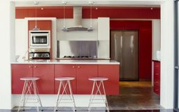 Paint gives your melamine cabinets a whole new look.
