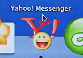 Yahoo offers emoticons with its instant messaging service.