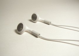 Earbuds for an iPod.