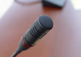 Test your computer's microphone with Sound Recorder or GarageBand.