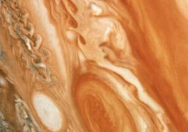 Jupiter's Great Red Spot is a long-lasting storm system.