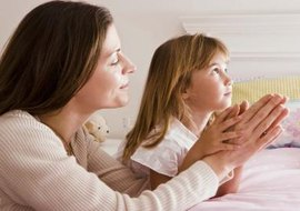 Teach your child the Lord's Prayer so she can speak to God on her own.