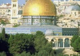 The Islamic Dome of the Rock is the site where Solomon's temple once stood.