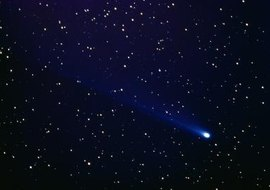 Comets have been seen in the sky since ancient times.
