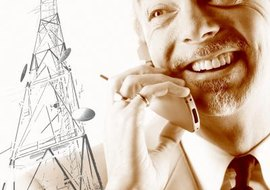 Cellular systems use a network of radio towers to carry phone calls.