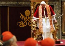 Pope Benedict XVI was elected the 265th Pope on April 19, 2005.