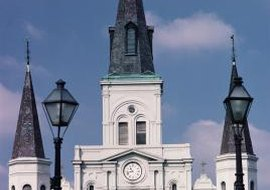 St. Louis Cathedral in New Orleans was racially segregated during the Jim Crow era.