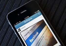 Facebook's search feature is used to follow people or businesses of interest.