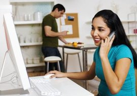 VoIP providers generally recommend cable or DSL Internet for use with service.