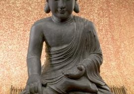 Buddha, an avatar of Hindu God Vishnu, in meditation pose.
