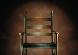 Simple pieces, such as this Shaker chair, reflect religious beliefs.